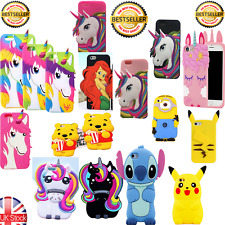 3D Arco Iris Unicornio Pony Caballo Gel De Silicona Funda Protectora De Teléfono iPhone 6 7 Plus