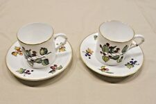 ROYAL WORCESTER BONE CHINA, MADE IN ENGLAND, DEMITASSE CUP AND SAUCER, EVESHAM