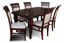 Esstisch + 6 Stühle Esszimmer Set Essgruppe Klassischer Tisch Tische Neu Z33