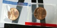 1993 P D 1993D Lincoln cent uncirculated US Mint set in cello