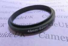 49-52mm 52-49 Male to Male Double Coupling Ring reverse macro Adapter 49-52