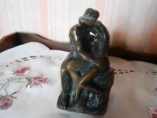 """Petit Bronze """"Le Baiser"""" de RODIN Hauteur 12,5 cm"""