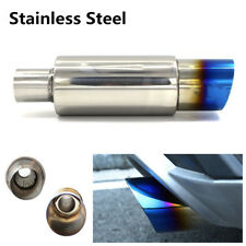 DIY Stainless Steel Roasted Blue Car Racing Exhaust Muffler Pipe Tip Tail Throat