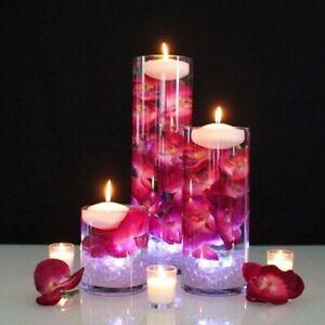 Column Glass Slim Cylinder 25 cm Flower Vase Candle Holder