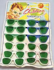 "Vintage ""Children"" Sunglasses on Display Card 1st First Release 50's curved Ear"