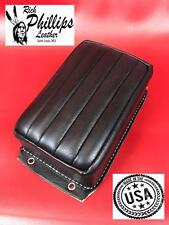 Pillion Passenger Pad Tuck & Roll Black Bates Style Motorcycle Rich Phillips
