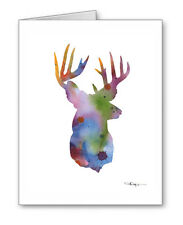 Abstract Deer Note Cards With Envelopes