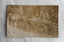 c1900 B/W Photograph. Horse & Carriage (Landau) with Men & Women. Aristocrats