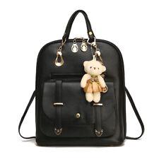 Women Girls School Bag PU Leather Backpack Rucksack Purse Travel Fashion Handbag