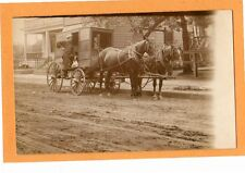 Real Photo Postcard RPPC - Milkman and Horsedrawn Dairy Wagon