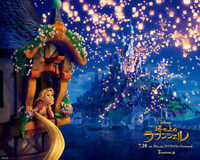 "Rapunzel - Disney's Tangled movie Home Poster Art Silk Fabric 28x24"" Decor 52"