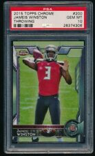 PSA 10 JAMEIS WINSTON 2015 TOPPS CHROME #200A RC/THROWING *TAMPA BAY BUCCANEERS*