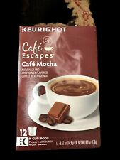 Cafe Escapes Cafe Mocha Keurig K Cup 12 ct (EXP 10/20)