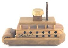 Natchez Vintage Wooden Steam Boat River Boat Hand Made Toy Wood Wheel Steamboat