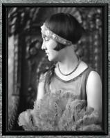 Stunning... Art Deco Flapper Era Woman Portrait Photo . Antique 5x7 Photo Print