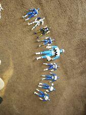 Lot Of 9 Power Rangers BLUE FigureS Bandai 1998 thru 2002. PRE-OWNED