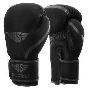 Maya Leather Boxing Gloves Muay Thai Punch Bag Sparring MMA Training Kickboxing