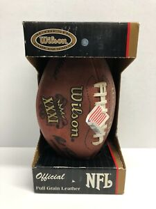 SUPER BOWL XXXI 31 Authentic Wilson NFL Game Football in box PACKERS vs PATRIOTS