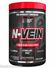 Nutrex N-VEIN Pre Workout Pump Matrix Stim-Free Vascularity - 30 Servings .Fresh