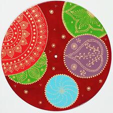disc-mandala 22 / vinyl record mandala art handmade painting