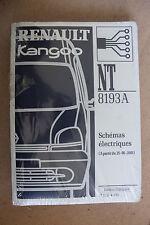 (C50) MANUEL ATELIER SCHÉMAS ÉLECTRIQUES RENAULT KANGOO à partir 25-06-2001