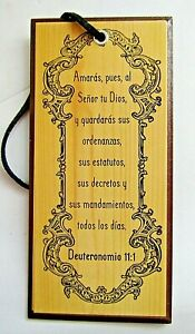 Cuadro con Deuteronomio 11:1
