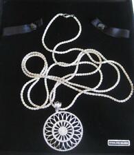 """Milor Sterling Silver Mandala Pendant, 925, 53"""" Rope Chain B Mark Velvet Box"""