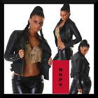 chaqueta de mujer motorista/uñas ecopiel 3 colori talla 40,42,44,46