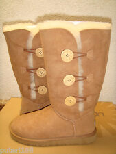 UGG BAILEY BUTTON TRIPLET TALL CHESTNUT BOOT sz US 7 / EU 38 / UK 5.5 - NEW