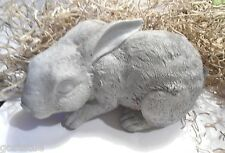 Latex with plastic backup rabbit  crouching mold plaster concrete casting mould