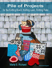 Pile of Projects for the Knitting Board, Loom, Rake Bk