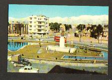 TEHRAN / AUTOBUS double-étage , MONUMENT & HOTEL à FERDOWSI SQUARE