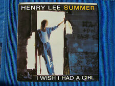 RECORD 45 RPM -HENRY LEE SUMMER , I WISH I HAD A GIRL / WING TIP SHOES