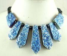 Titanium Crystal & agate Handmade Gemstone Jewellery pendant Necklace C-12