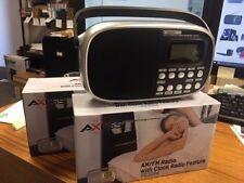 Brand NEW--Axess PR3204 Black AM/FM SW1/SW2 4-Band Radio Receiver w/Alarm Clock