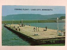 Fishing Float Barge on Lake Pepin in Lake City, Minnesota Chrome Postcard Unused