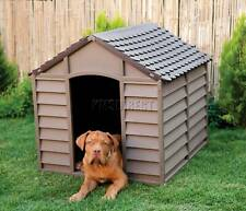 Starplast Outdoor Dog Kennel – Large - Winter Shelter Plastic Animal Hut Mocha