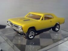 MoDEL MoToRING 1967 Chevelle Yellow HO scale slot car T-jet Custome Wheels