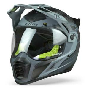 Klim Krios Pro Arsenal Gray Adventure Motorcycle Helmet, Free shipping, New!