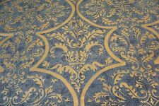 SCALAMANDRE Fabric VENEZIA Blue and Gold Cotton SOLD BY THE YARD
