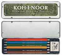 Koh-I-Noor - Set of mechanical pencils with coloured leads and eraser