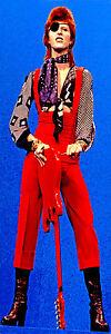 DAVID BOWIE ZIGGY STARDUST GLAM ROCK 70S RETRO POP ART LIFESIZE ON CANVAS 24x72