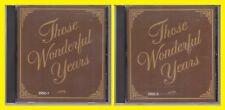 THOSE WONDERFUL YEARS Disc 1 & 2 Heartland Music 1990 Various Artists CD Lot
