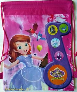 2X SOFIA THE FIRST Non woven drawstring backpack bags for kids **AU Seller