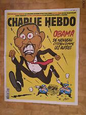 Barack Obama CHARLIE HEBDO 1268 rare - 9.11.2016