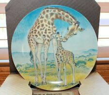 Bradford Exchange Collector Plate, Signs Of Love Collection, Giraffe First Plate