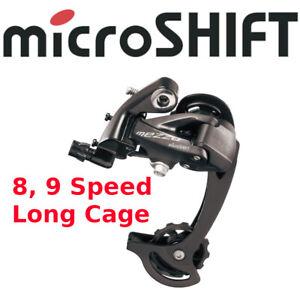 microSHIFT Mezzo M36 8, 9 Speed MTB Rear Derailleur Bike Long Cage fit Shimano