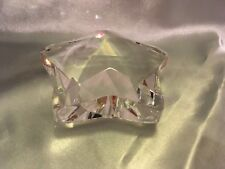 "Rosenthal Star Clear Glass Paperweight measuring 3 1/2"" by 3 1/2"""
