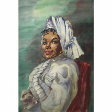 Holloway Bristol Savage African Caribbean Smart Elegant Woman Portrait Painting