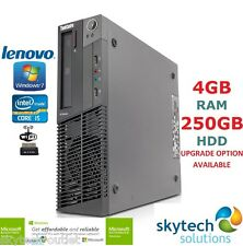 RÁPIDO Lenovo SFF I5 QUAD CORE Ordenador 3.10ghz 4gb WIFI barato Windows 7 Pro